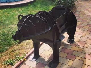 Шашлычница в виде медведя